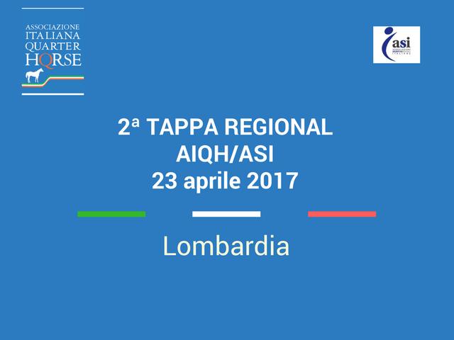 LOMBARDIA 2ª TAPPA REGIONAL AIQH/ASI 23 APRILE 2017