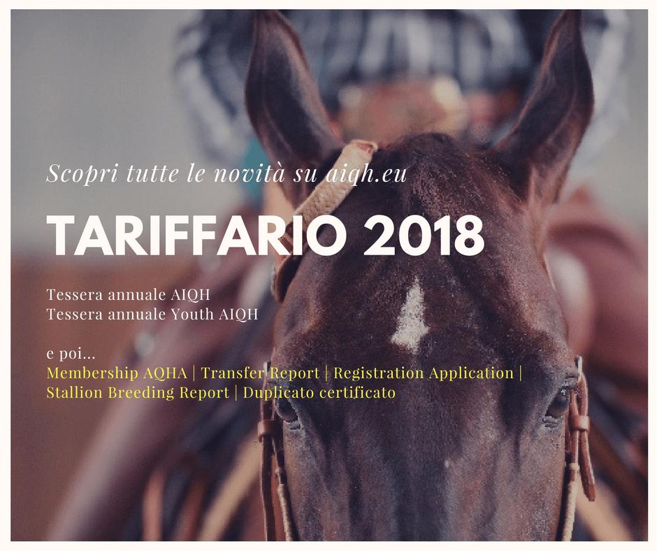 Tariffario AIQH 2018