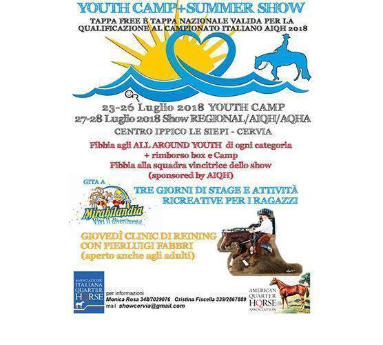 YOUTH CAMP+SUMMER SHOW – LUGLIO 2018