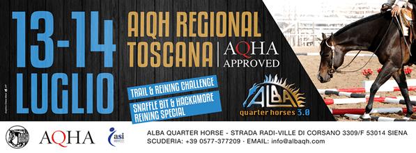 13-14 luglio | AIQH Regional Toscana AQHA Approved