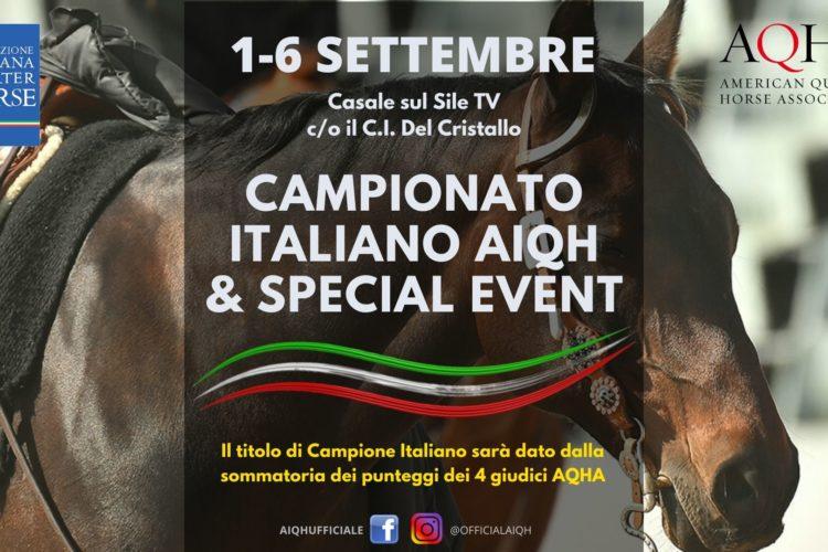 1-6 SETTEMBRE | CAMPIONATO ITALIANO AIQH & SPECIAL EVENT