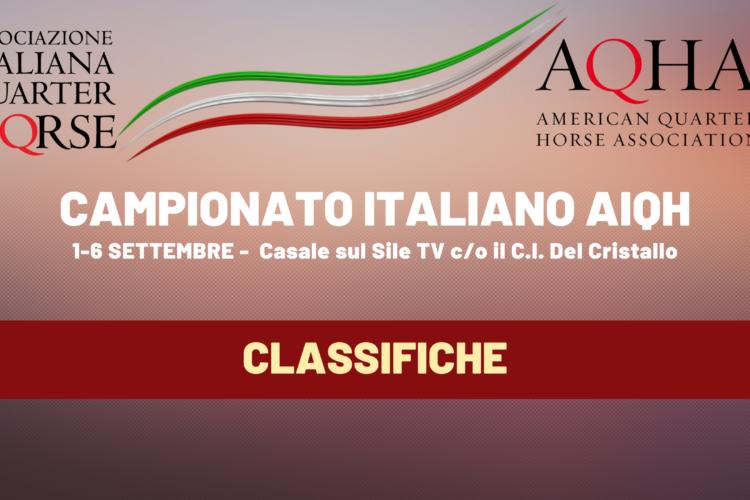 CAMPIONATO ITALIANO AIQH   CLASSIFICHE
