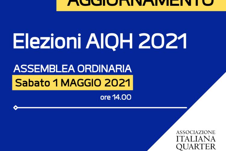 Elezioni AIQH 2021 – 1 MAGGIO 2021 ORE 14.00