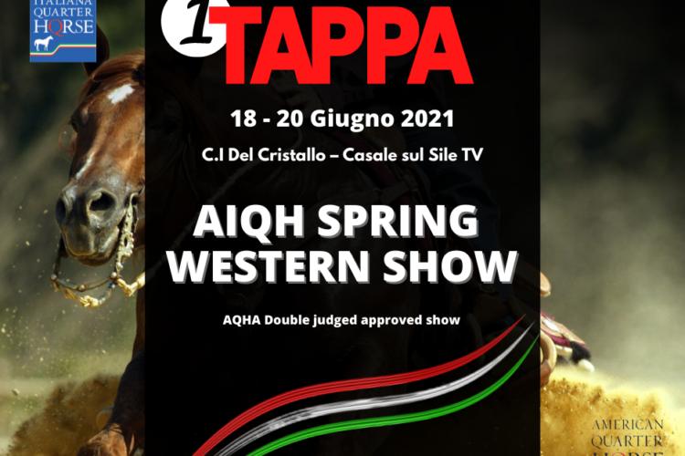 AIQH SPRING WESTERN SHOW – 18 – 20 Giugno 2021