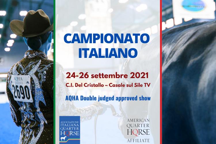 PUBBLICATA LA CLASSIFICHA DEL CAMPIONATO ITALIANO AIQH 24-26 SETTEMBRE 2021