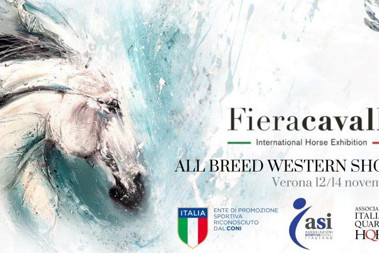 AIQH & ALL BREED WESTERN SHOW – FIERACAVALLI VERONA 12/14 NOVEMBRE 2021